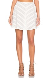 For Love And Lemons Alessandra Mini Skirt White