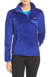 Patagonia Women's 'Re Tool' Snap Pullover Harvest Moon Blue Blue X Dye