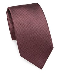 Pal Zileri Solid Textured Silk Tie Brown