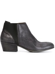 Pantanetti Panelled Ankle Boots Black