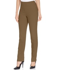 Charter Club Petite Tummy Control Slim Leg Pants Only At Macy's Salty Nut