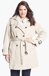 London Fog Heritage Trench With Detachable Liner Plus Size Stone