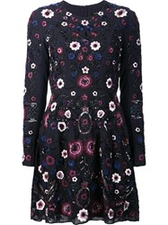 Needle And Thread Floral Embellished Longsleeved Dress Blue