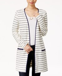 Maison Jules Striped Duster Cardigan Only At Macy's Egret Combo