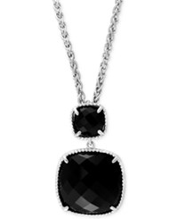 Effy Collection Effy Black Onyx 14 4 5 Ct. T.W. Pendant Necklace In Sterling Silver