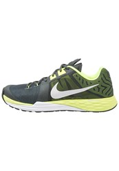 Nike Performance Train Prime Iron Df Sports Shoes Anthracite Metallic Silver Volt White Black Grey