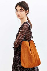 Kimchi And Blue Kimchi Blue Soft Lines Suede Hobo Bag Brown