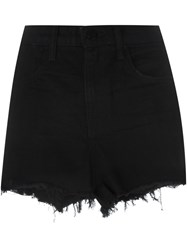Alexander Wang Frayed Denim Shorts Black