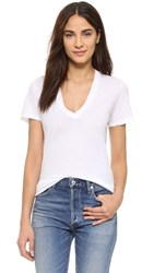Monrow V Neck Tee White