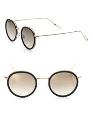Kyme 46Mm Round Sunglasses Gold