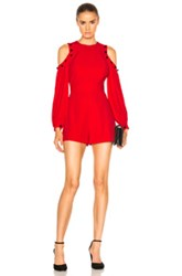 Alexis Asher Romper In Red