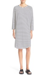 Women's 6397 Nautical Stripe Shift Dress