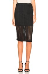 Alexander Wang T By Jacquard Fitted Skirt In Black