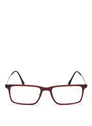 Ray Ban 'Rb7050 Light Ray' Titanium Temple Rectangle Optical Glasses Red