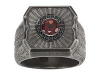 Stephen Webster Large Cigar Leaf Ring Sterling Silver Black Sapphire Garnet