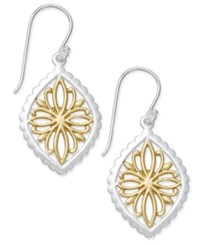 Giani Bernini Two Tone Openwork Drop Earrings In Sterling Silver And Gold Plated Sterling Silver Only At Macy's Two Tone
