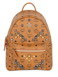 Mcm Small Stark Faux Leather Backpack
