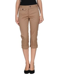 Moschino Cheap And Chic Moschino Cheapandchic 3 4 Length Shorts Camel