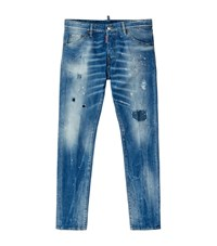 Dsquared2 Distressed Cool Guy Paint Splatter Jeans Male Blue
