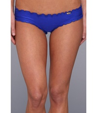 Luli Fama Cosita Buena Wavey Brazilian Ruched Bottom Electric Blue Women's Swimwear