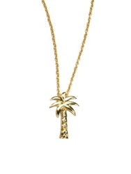 Roberto Coin Tiny Treasures 18K Yellow Gold Palm Tree Pendant Necklace