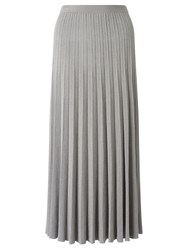 Bruce By Bruce Oldfield Pleated Maxi Knit Skirt Silver