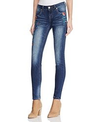 Grace In La Floral Embroidered Jeans Dark Blue Compare At 69
