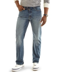 Nautica Relaxed Fit Light Wash Denim Jeans Blue