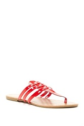 Red Circle Rocky Flat Sandal Red