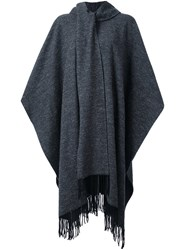Ymc Fringed Cape Grey