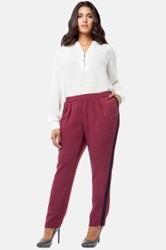Mynt 1792 Pegged Pleated Tuxedo Pants Plus Size Red