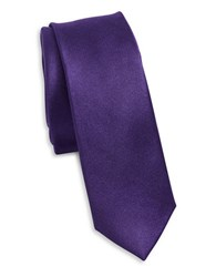 Original Penguin Solid Silk Tie Purple