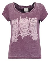 Vero Moda Vmmoog Molly Print Tshirt Decadent Chocolate Melange Dark Brown