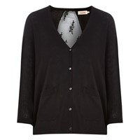 Louche Argento Lace Back Cardigan Black