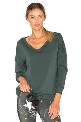 Beyond Yoga Cozy Fleece Rib Pullover Dark Green
