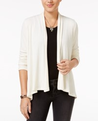 Bar Iii Open Front Ribbed Cardigan Only At Macy's Egret