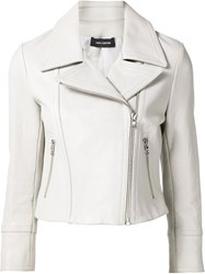 Yigal Azrouel Moto Leather Jacket Grey