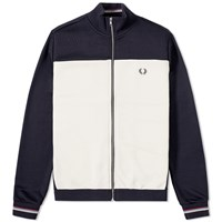 Fred Perry Bradley Wiggins Contrast Panel Track Jacket Blue