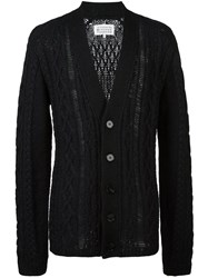 Maison Martin Margiela Distressed Knit Cardigan Black