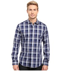 Bugatchi Filipo Long Sleeve Woven Shirt Navy Men's Long Sleeve Button Up
