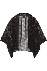 Anna Sui Embroidered Tulle And Broderie Anglaise Kimono Jacket