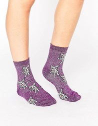 Asos Halloween Mummy French Bulldog Ankle Socks Burgundy Red