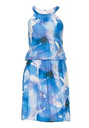 Vera Mont Dropped Waisted Print Dress Multi Coloured