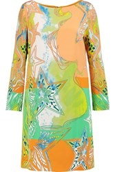 Emilio Pucci Printed Silk Crepe De Chine Shift Dress Multi