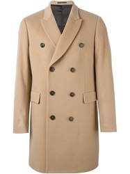 Paul Smith Double Breasted Coat Brown