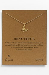 Women's Dogeared 'Reminder Beautiful' Pendant Necklace Butterfly Gold Dipped