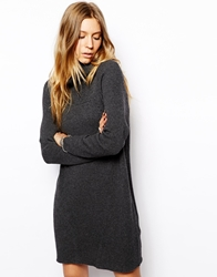 2Nd Day Katmandu Jumper Dress With Roll Neck Grey