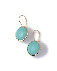 Ippolita 18K Gold Lollipop Drop Earrings Turquoise