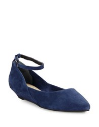 Seychelles Drove Ankle Strap Wedges Indigo