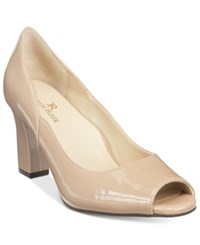 Taryn Rose Tr Francis Block Heel Pumps Women's Shoes Nutmeg